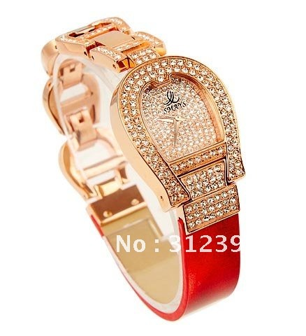 10 off per 100 Authentic Smays Fashion Women s Luxury Wrist Quartz Watch Crystal Leather