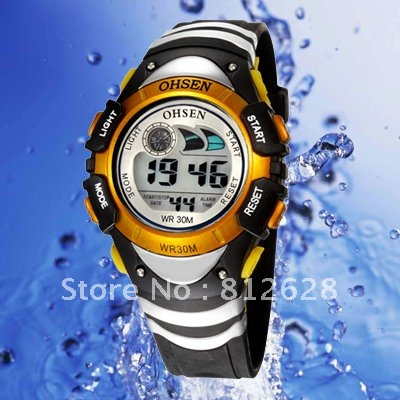 Rubber 23.7 cm Round watch Plastic Digital 0816--4