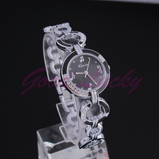 Stainless Steel 16.5 inch Round watch Glass Quartz K423L-5