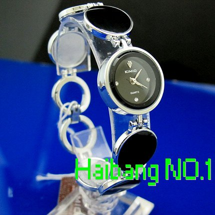 100 Genuine KIMIO Black Ladies women s simple Fashion Casual Bracelet Design Quartz Watches K2812L 5pcs