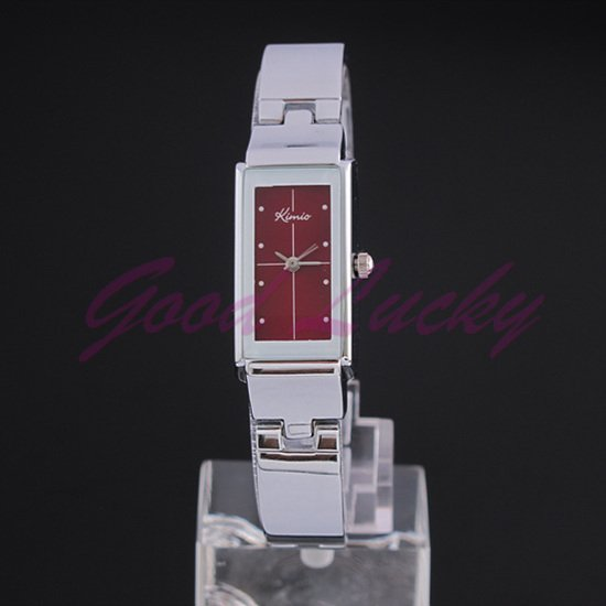 Stainless Steel 20 cm Rectangle watch Glass Quartz K874Lred