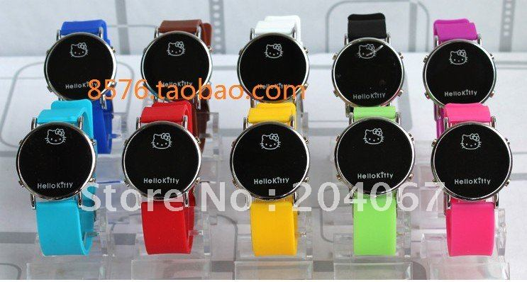 Plastic 20 cm Round watch Plastic Digital 5712