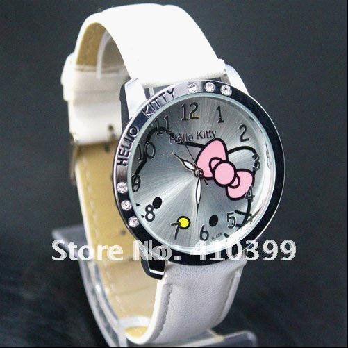 Leather 23.5 cm Round watch Hardlex Quartz wrist watch
