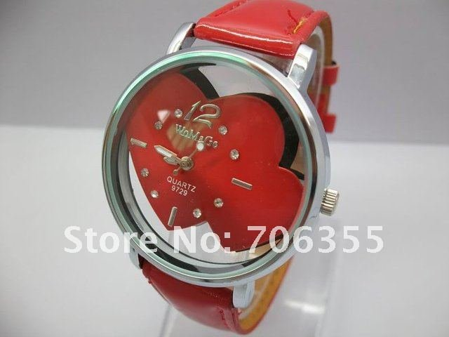 100PCS lot EMS DHL WOMAGE watch Modern Watch Quartz watch Fashion Watch with crystal