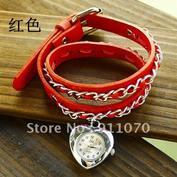 100pcs lot 2012 New style Wholesale Cow Leather fashion Summer hot sell Personality bracelet watch TOP