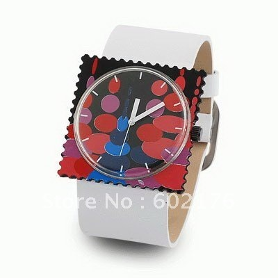 Leather 0 cm Square watch Glass Quartz w59