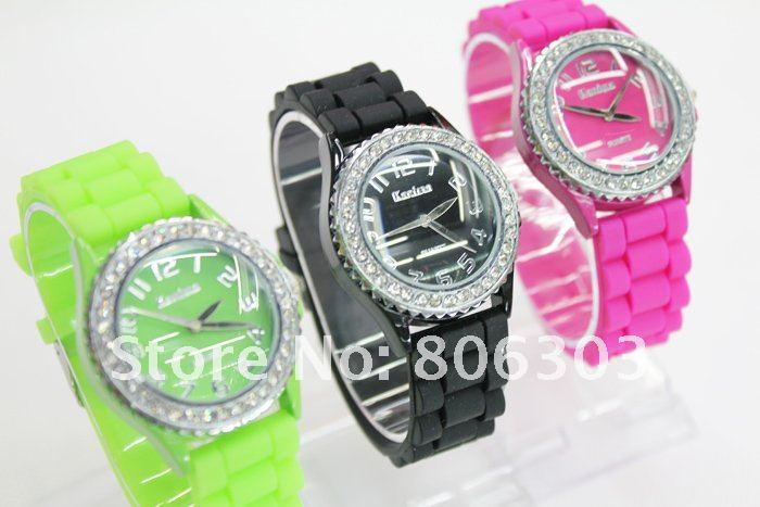 Rubber 28 cm Round watch Glass Quartz 001