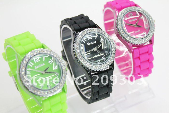 Women Quartz watch Sport Rubber 4 inch