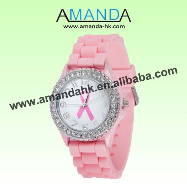 Women Quartz watch Dress Rubber 4 cm