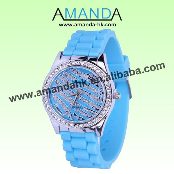 Rubber 25 cm Round watch Glass Quartz