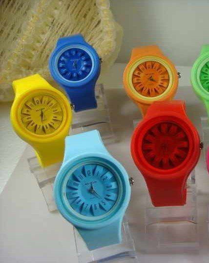 10Pcs Jelly Wrist Watch Multicolor Unisex Silicone Watches Wholesale Women Ladies Girl Watch Dropship