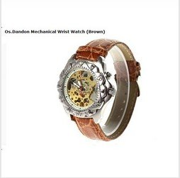 10pcs lot Cheap wholesale Generous and Fashion Mechanical Wrist Watch Brown