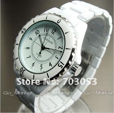 Rubber 22 cm Round watch Glass Quartz