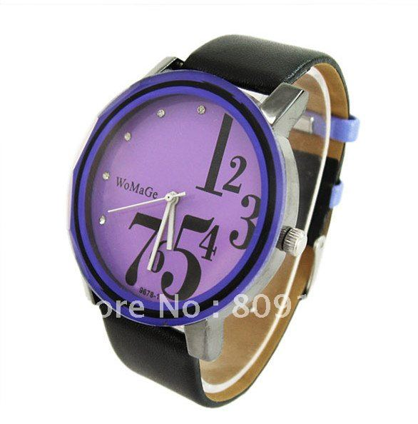 Resin 22 cm Round watch Plastic Quartz FS-07