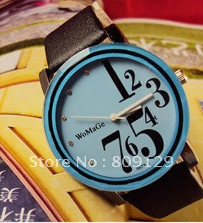 1pcs WoMaGe 9678 1 Women s PU Leather Band Analog Watch blue promotion cheap