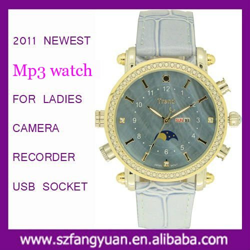 2011 Newest Waterproof MP3 Watch A3070 For Ladies
