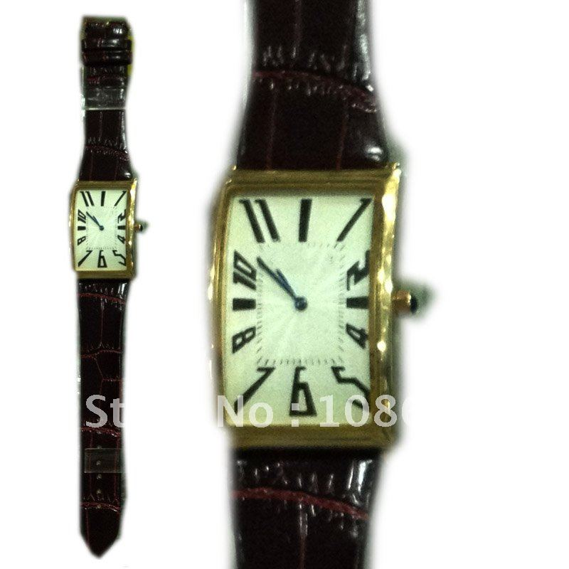 2012 Black new style Men s Watches Leather Belt Gift Watch Casual Luxury japan movement Promotional