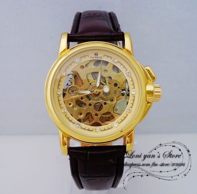 Leather 23 cm Round watch Glass Quartz JW6062