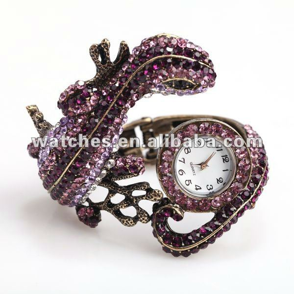 Leather 24 cm Round watch Glass Quartz 606W14304517