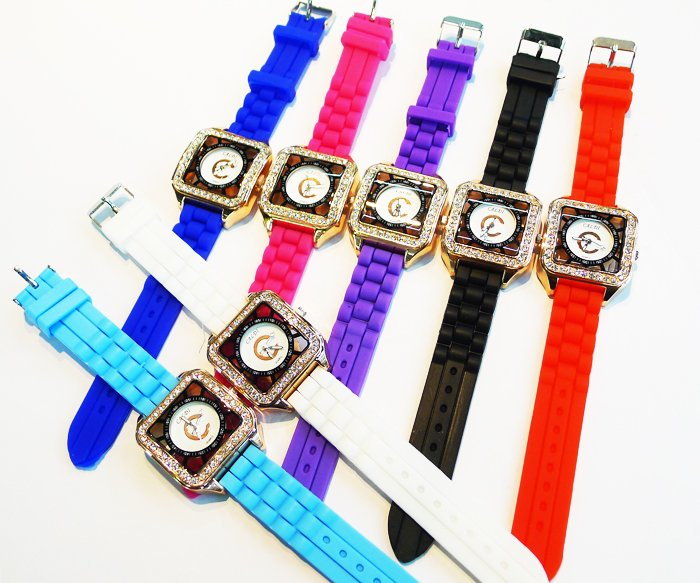 2012 New Fashion Ladies brand Watch Classic Gel Crystal Silicone Jelly watch multiple7 Colors women gift