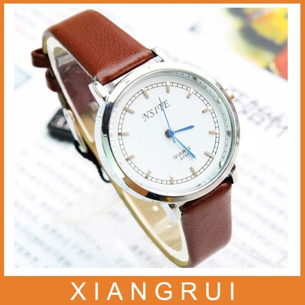 2012 New style hot selling pu Leather fashion Personality watch TOP quality A206