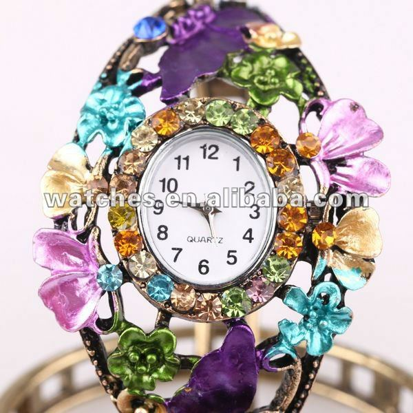 2012 popular new arrival wristwatch bracelet new style watch bronze wristwatch