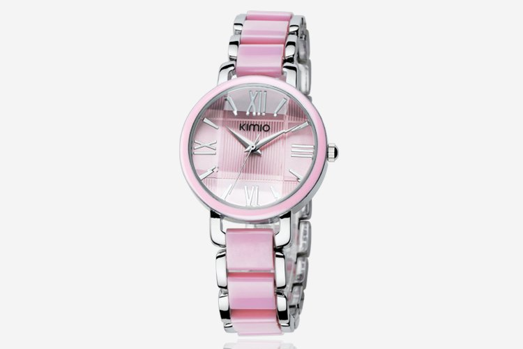 3 colors women s KIMIO Pink Ceramic Stainless Steel Analog watch AB1112