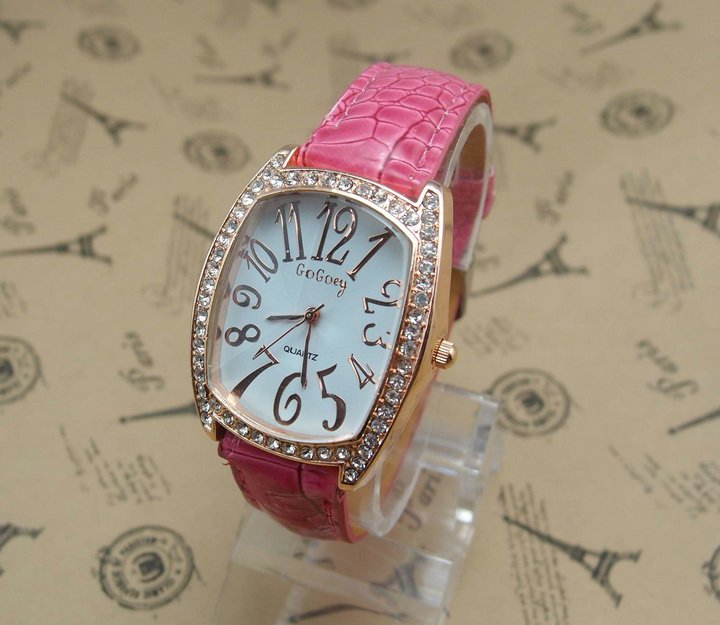 6 colors wholesale hot sell Top Quality lady s crystal Quartz Watch MD0081