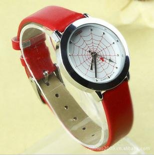 Brief vogue women cortical fashion watch Red netting quartz watch