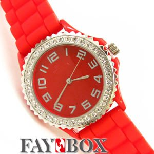 DHL Mix colors shipping graceful Platinum women s fashion watch Silicone bling crystal watch