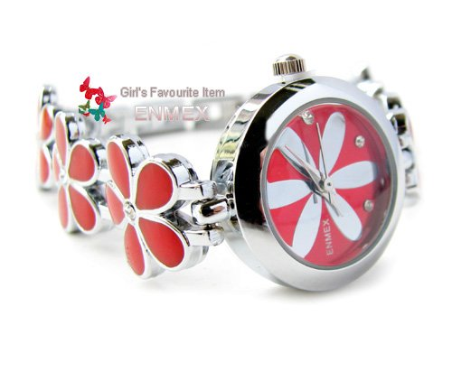 ENMEX Girl Lady summer folwer bracelet Wrist Watch for Present Gift beautiful wholesale retail