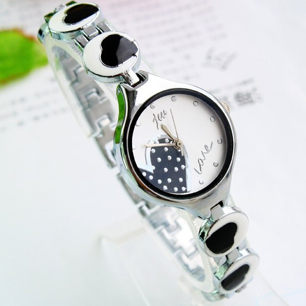 Rubber 24.5 cm Round watch Glass Quartz