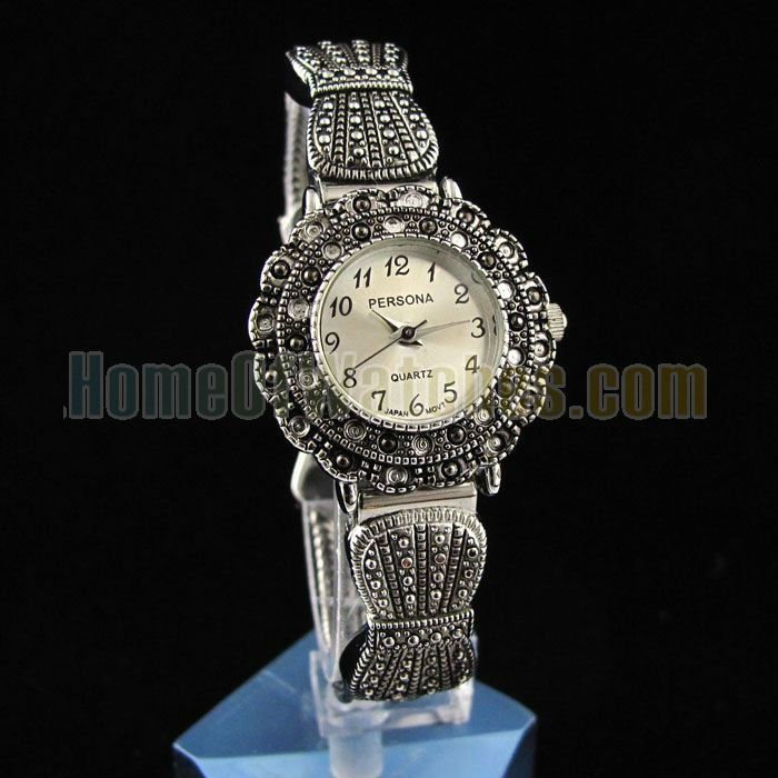 Stainless Steel 24 cm Round watch Hardlex Quartz 8489