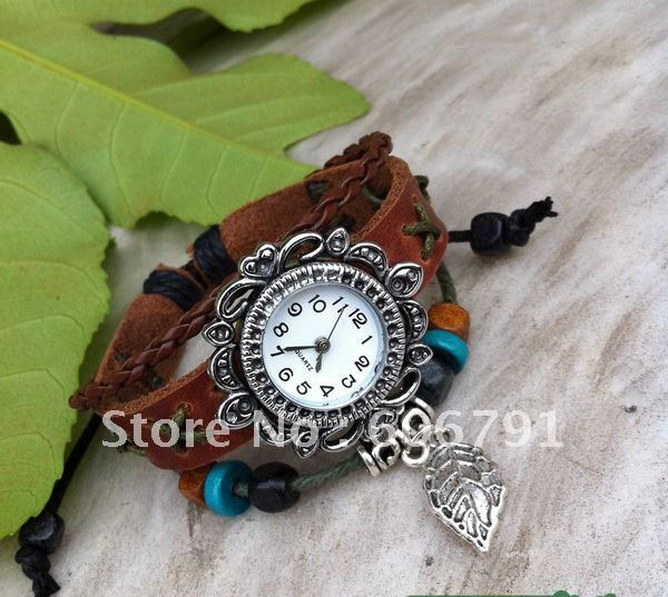 GUARANTEED GENUINE LEATHER LADY WATCH SELF DESIGNED WATCH