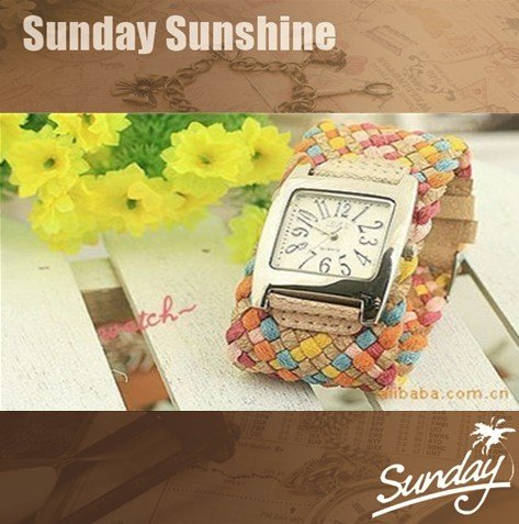 2012 TOP quality From South Korea fashion Weaving strap summer fashion Watches Fashion Women