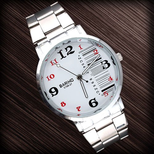 Stainless Steel 20 cm Rectangle watch Sapphire Quartz