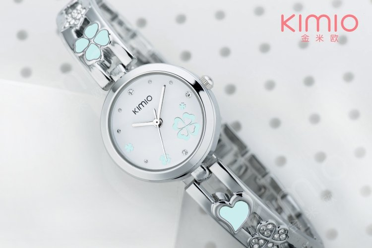 Best Sell Korean KIMIO Lady s Beauty Clover Stainless Steel watch SBN051