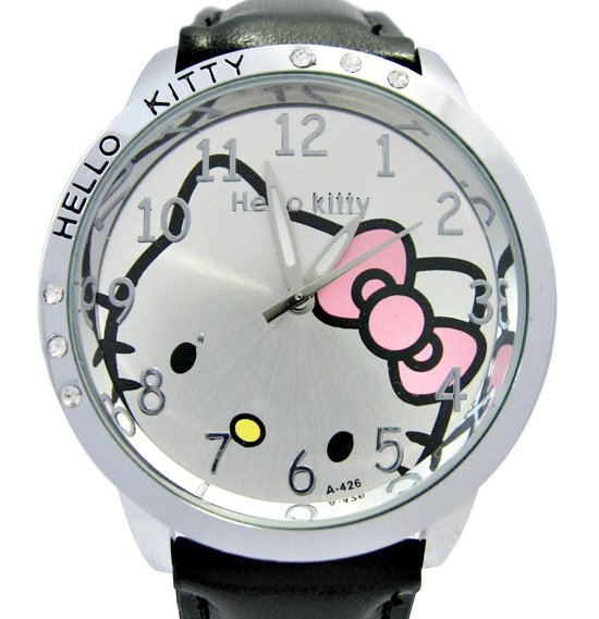 Cost Brand new Black Lovely Hello Kitty Lady Girl Quartz Wristwatch Watches K1 BK