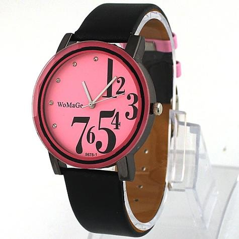 Leather  Rectangle watch Plastic Digital