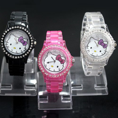 Stainless Steel 17.1 cm Round watch Glass Digital K410L-B-3