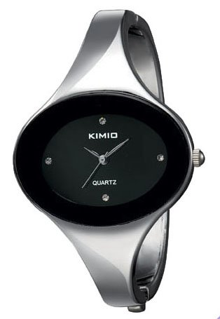 KIMIO Fashion Black Round Surface Simple Bracelet Ladies Women s Watches K251L 5pcs lot