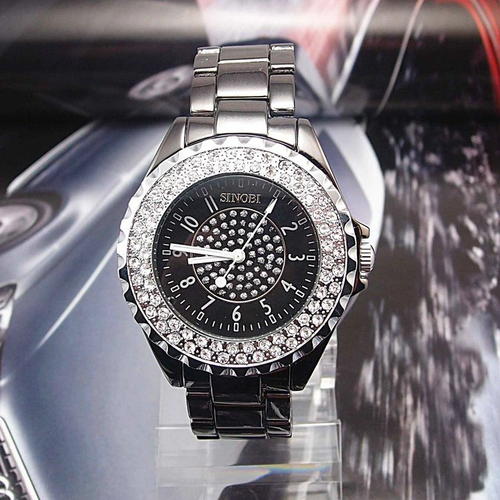 Leather 24 inch Round watch Glass Automatic Self-Wind