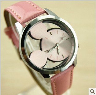 Wholesale New Sports quartz leather CARTOON MICKEY watch 5 pcs lot