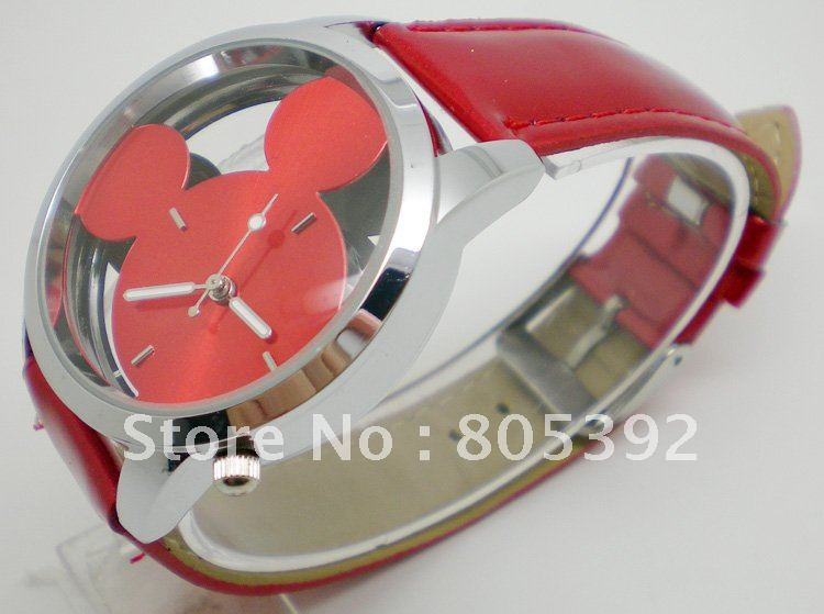 Leather 23.7 cm Round watch Glass Quartz