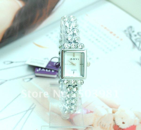 hot sell Stainless Steel women s Luxury white crystal Analog watch MD038