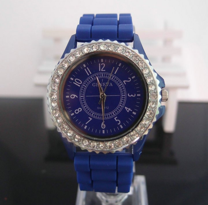 Leather  Round watch Plastic Digital