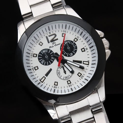 Stainless Steel 20.5 cm Round watch Glass Quartz 144731