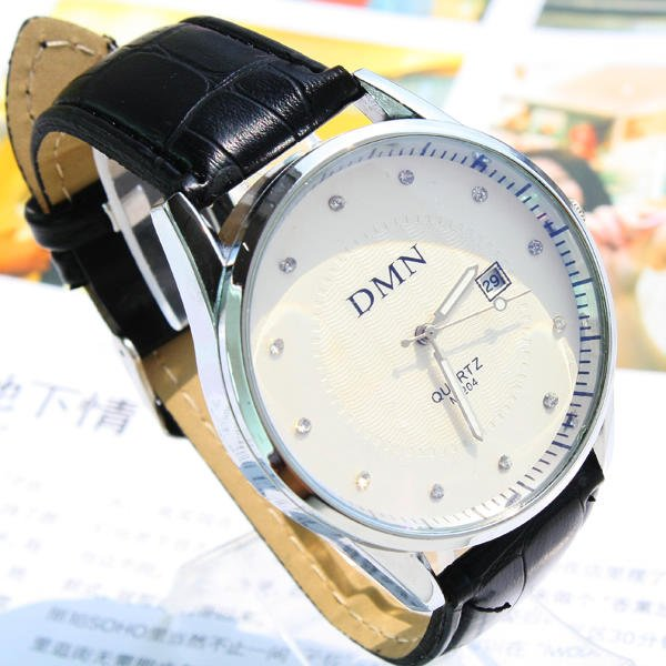 Stainless Steel  Round watch Glass Quartz