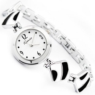 Platinum 20 cm Round watch Glass Quartz