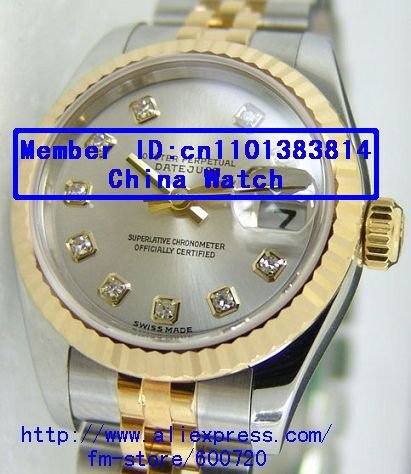 Ladies role Datejust 18K SS Silver Diamond Dial 179173